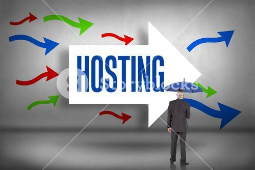 Hosting against arrows pointing