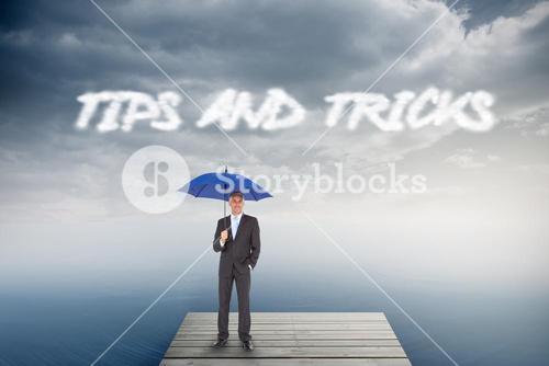 Tips and tricks against cloudy sky over ocean