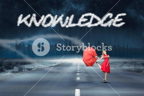 Knowledge against road leading out to the horizon