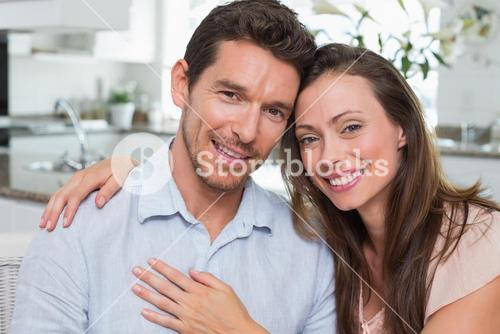 Close-up of a happy couple at home