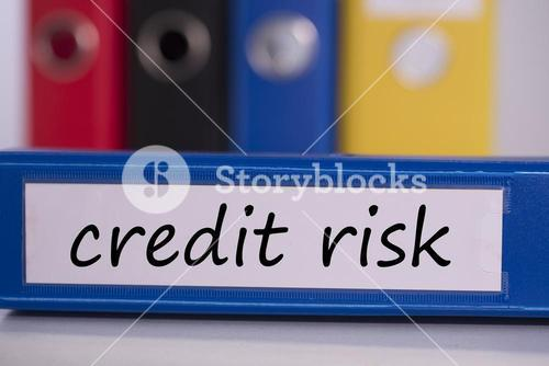 Credit risk on blue business binder