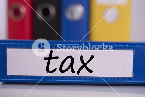 Tax on blue business binder