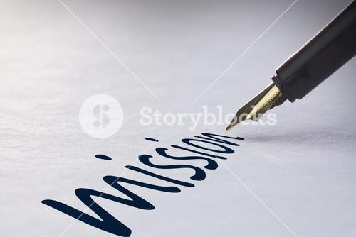 Fountain pen writing Mission