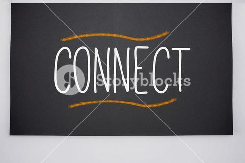 Connect written on big blackboard