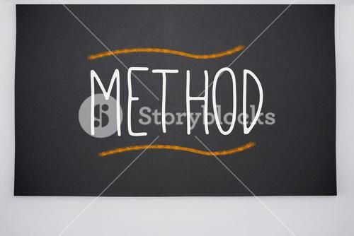 Method written on big blackboard