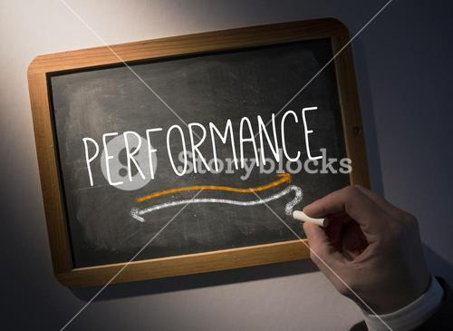 Hand writing Performance on chalkboard