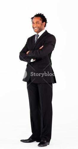 Portrait of businessman with folded arms