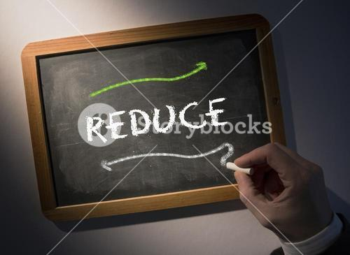 Hand writing Reduce on chalkboard