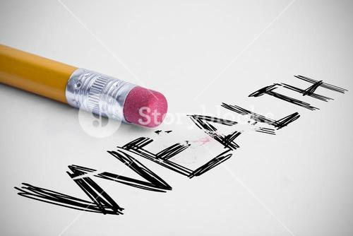 Wealth against pencil with an eraser