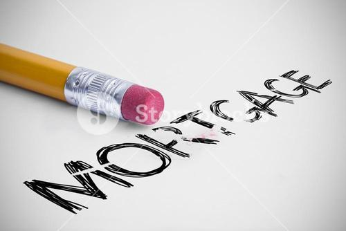 Mortgage against pencil with an eraser