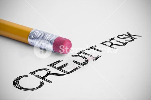 Credit risk against pencil with an eraser