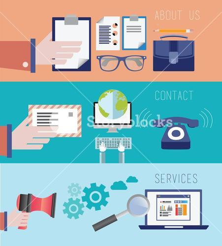Business and retail vector illiustrations