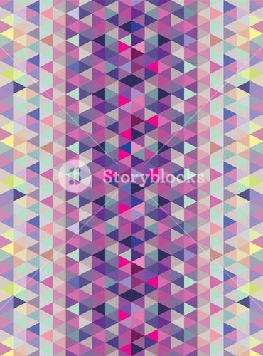 Purple and blue triangle pattern