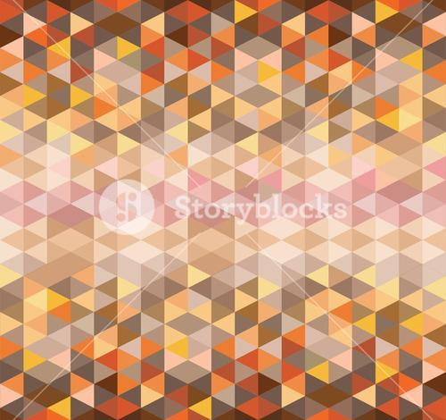 Orange and brown triangle pattern