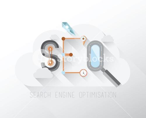 Search engine optimization graphic in a cloud