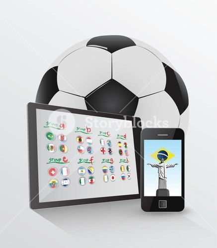 World cup on media device concept