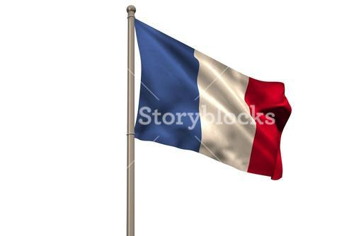 Digitally generated french national flag