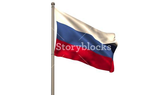 Digitally generated russian national flag