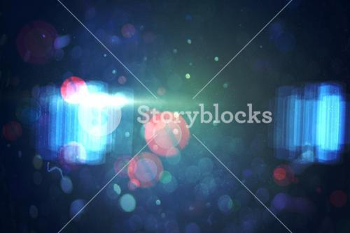 Abstract lights on dark background