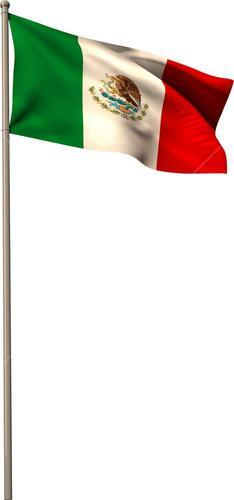 Digitally generated mexico national flag