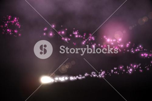 Bright light energy design in black and pink