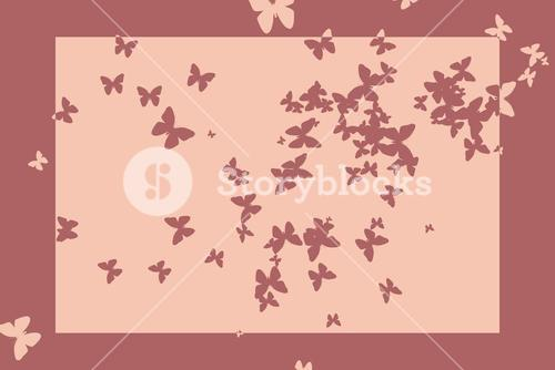Stencil butterfly pattern design in pink tones