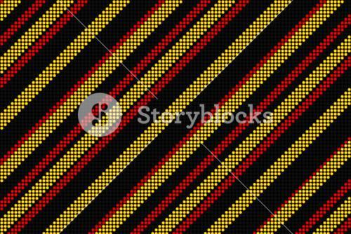 Cool linear pattern in black red and yellow