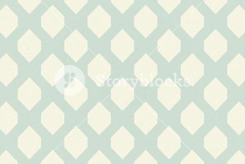 Blue and cream patterned wallpaper