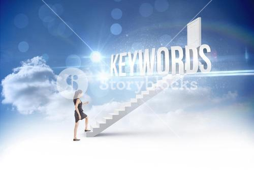 Keywords against steps leading to closed door in the sky