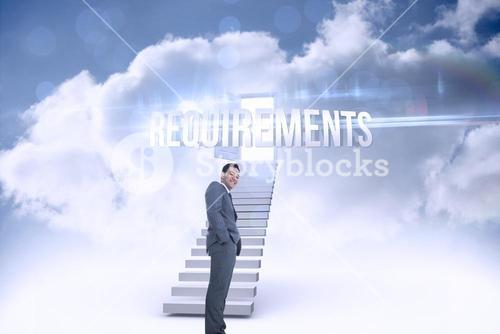 Requirements against open door at top of stairs in the sky