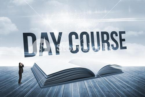 Day course against open book against sky
