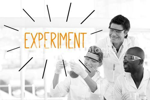Experiment against scientists working in laboratory