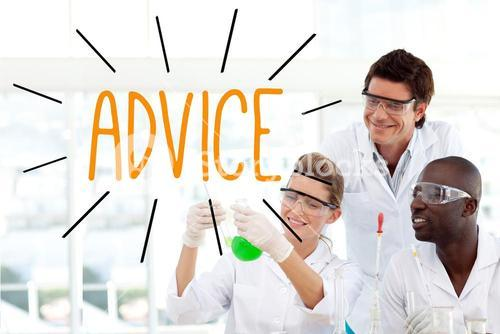 Advice against scientists working in laboratory