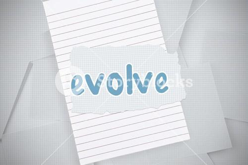 Evolve against digitally generated grid paper strewn
