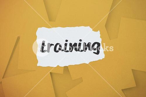 Training against digitally generated orange paper strewn