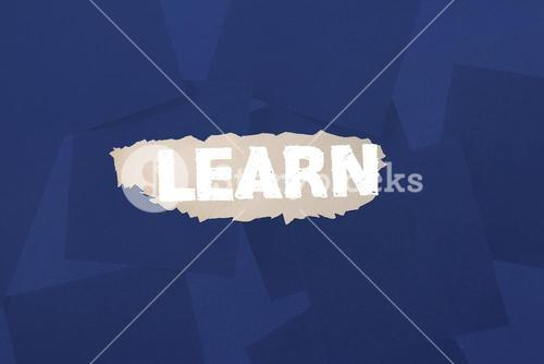 Learn against digitally generated blue paper strewn