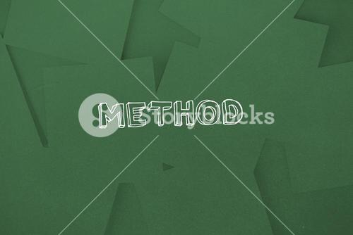 Method against digitally generated green paper strewn