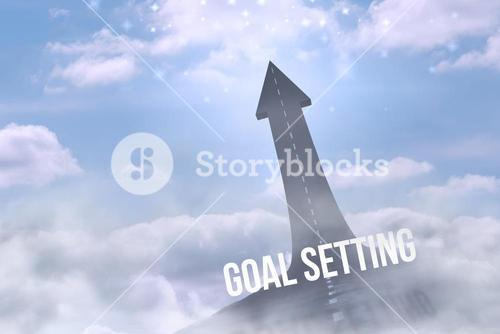 Goal setting against road turning into arrow