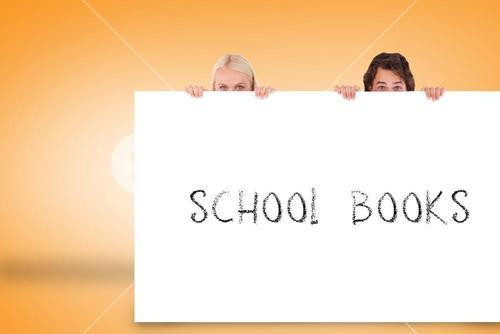 Attractive couple showing card with school books
