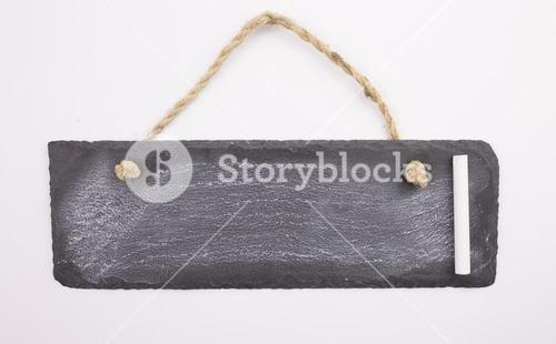 Hanging chalkboard with chalk