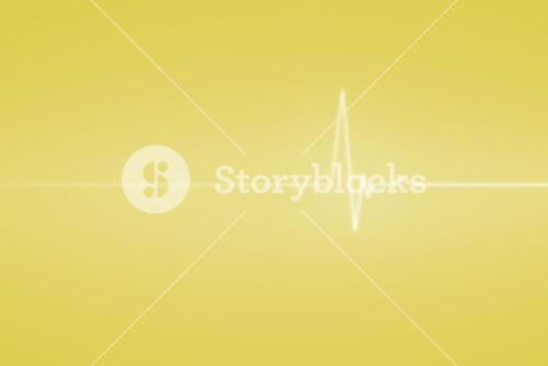 Yellow medical background with ecg line