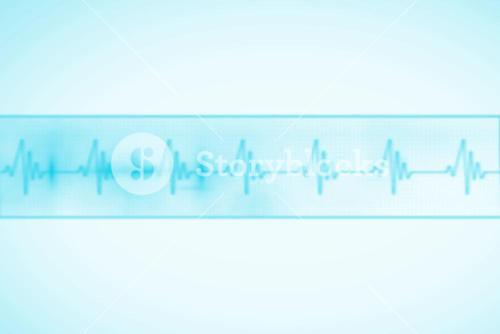 Medical background with blue ecg line