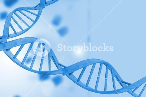 Medical background with blue dna helix