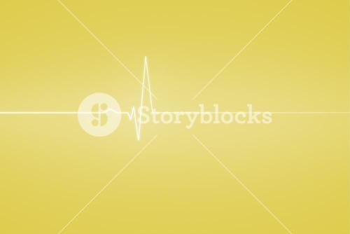 Medical background with ecg line in yellow