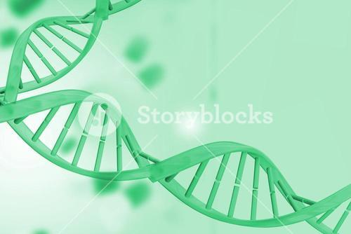 Medical background with green dna helix