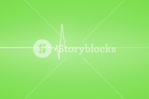 Medical background with green ecg line