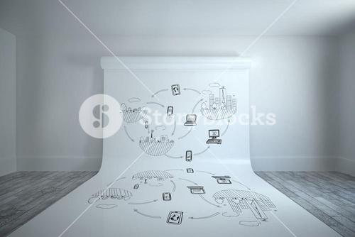 Composite image of brainstorm graphic