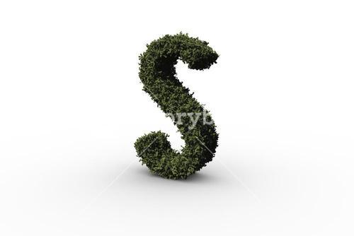 Capital letter s made of leaves
