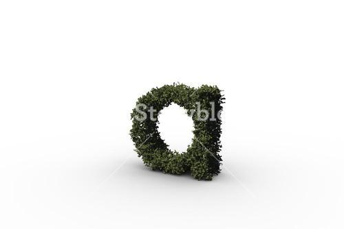 Lower case letter a made of leaves