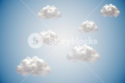 White cloud computing clouds